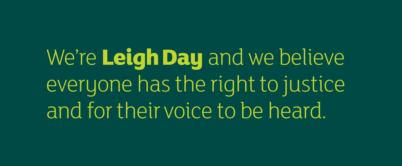Leigh Day manifesto